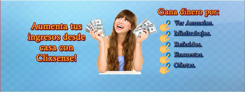 Ganar dinero desde casa conClixsense