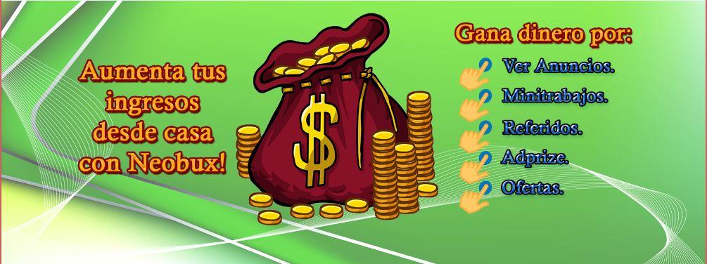 Ganar dinero desde casa conNeobux